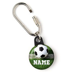 "Soccer Personalized 1"" Carabiner (Each)"