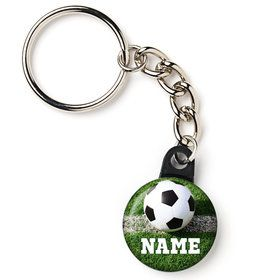 "Soccer Personalized 1"" Mini Key Chain (Each)"