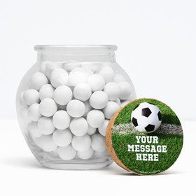 "Soccer Personalized 3"" Glass Sphere Jars (Set of 12)"