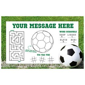 Soccer Personalized Activity Mat (8 Count)
