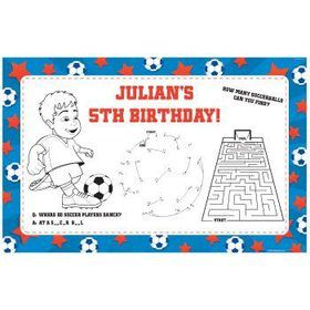Soccer Personalized Activity Mats (8-pack)