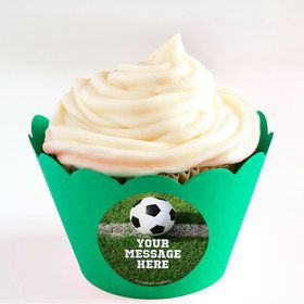 Soccer Personalized Cupcake Wrappers (Set of 24)