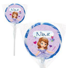 "Sofia Personalized 2"" Lollipops (20 Pack)"