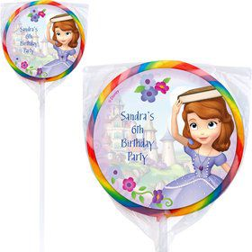 Sofia Personalized Lollipops (12 Pack)