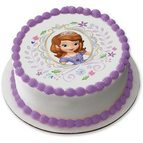 "Sofia the First 7.5"" Round Edible Cake Topper (Each)"