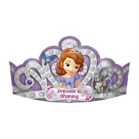 "Sofia the First 7"" Paper Tiaras (8 Pack)"