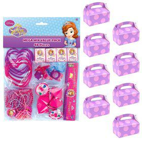 Sofia the First Filled Favor Box Kit (For 8 Guests)