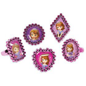 Sofia the First Jewel Ring Favors (18 Pack)