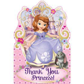 Sofia the First Postcard Thank You Cards (8 Pack)