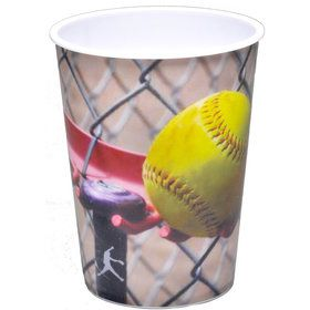 Softball 16oz Plastic Favor Cup