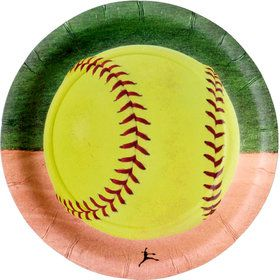 "Softball 7"" Cake Plate (8 Count)"