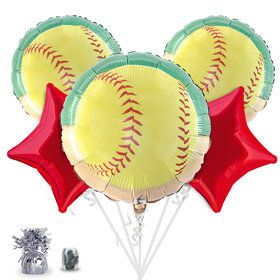 Softball Balloon Bouquet Kit