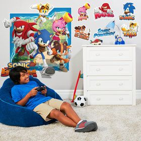 Sonic Boom Giant Wall Decal
