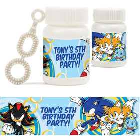 Sonic Personalized Bubbles (18 Pack)