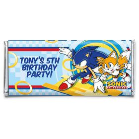 Sonic Personalized Candy Bar Wrapper (Each)