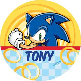 Sonic Personalized Mini Stickers (Sheet of 24)