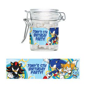 Sonic Personalized Swing Top Apothecary Jars (12 ct)
