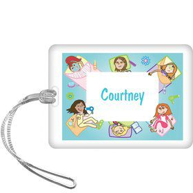 Spa Day Personalized Bag Tag (each)