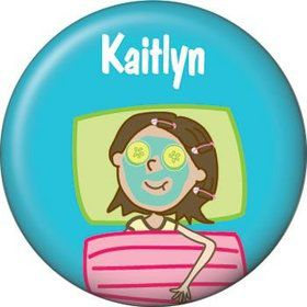 Spa Day Personalized Mini Button (each)