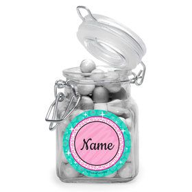 Spa Party Personalized Glass Apothecary Jars (12 Count)
