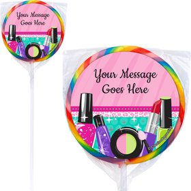 Spa Party Personalized Lollipops (12 Pack)