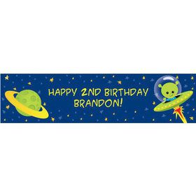 Space Alien Personalized Banner (each)