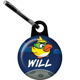 Space Birds Personalized Mini Zipper Pull (Each)