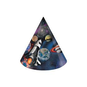 Space Blast Paper Party Hats (8 Pack)