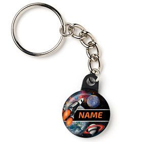"Space Blast Personalized 1"" Mini Key Chain (Each)"