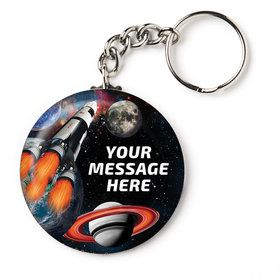 "Space Blast Personalized 2.25"" Key Chain (Each)"