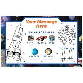 Space Blast Personalized Activity Mat (8 Count)