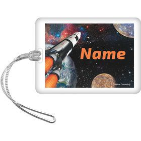 Space Blast Personalized Bag Tag (Each)