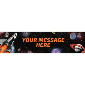 Space Blast Personalized Banner (Each)