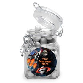 Space Blast Personalized Glass Apothecary Jars (12 Count)