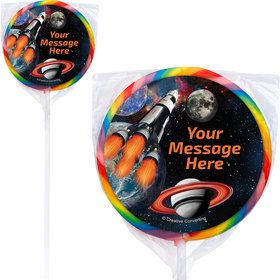Space Blast Personalized Lollipops (12 Pack)