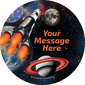 Space Blast Personalized Mini Stickers (Sheet of 24)