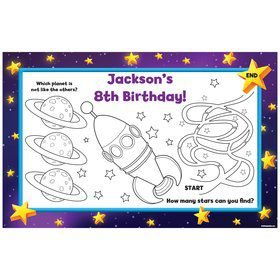 Space Personalized Activity Mats (8-Pack)