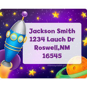 Space Personalized Address Labels (Sheet Of 15)