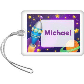 Space Personalized Bag Tag (Each)