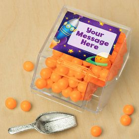 Space Personalized Candy Bin with Candy Scoop (10 Count)