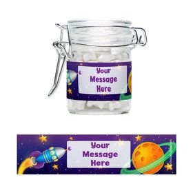 Space Personalized Glass Apothecary Jars (10 Count)