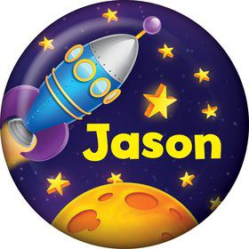 Space Personalized Mini Button (Each)