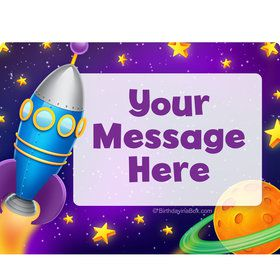 Space Personalized Rectangular Stickers (Sheet of 15)