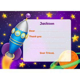 Space Personalized Thank You Note (Each)