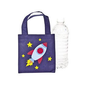 Space Ship Mini Tote Bags (12)