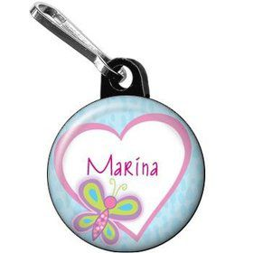 Sparkle Butterfly Personalized Mini Zipper Pull (each)