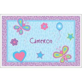 Sparkle Butterfly Personalized Placemat (each)