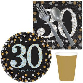 Sparkling Celebration 30th Birthday Snack Pack for 16