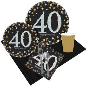 Sparkling Celebration 40th Birthday Party Pack for 8