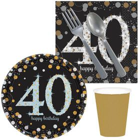 Sparkling Celebration 40th Birthday Snack Pack for 16